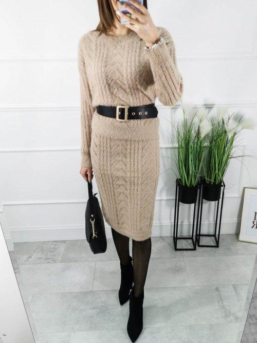 Komplet sweterkowy Pari beż