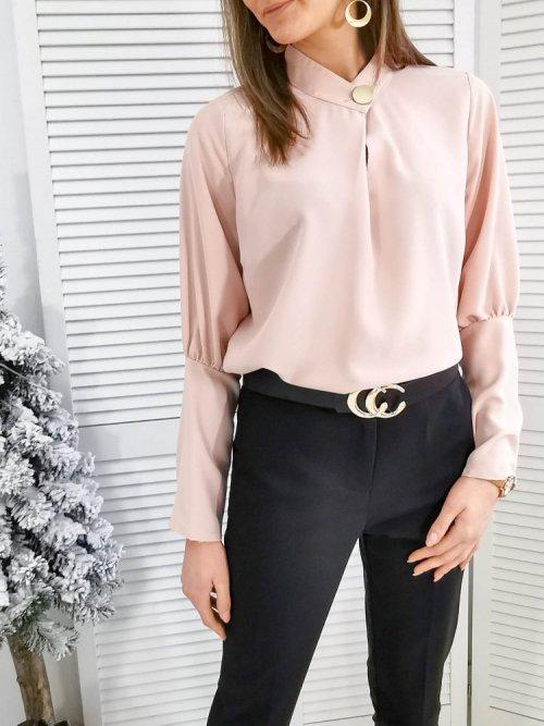 Bluzka elegancka Cambrai pink salmon