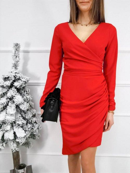 Sukienka kopertowa Awinion czerwona