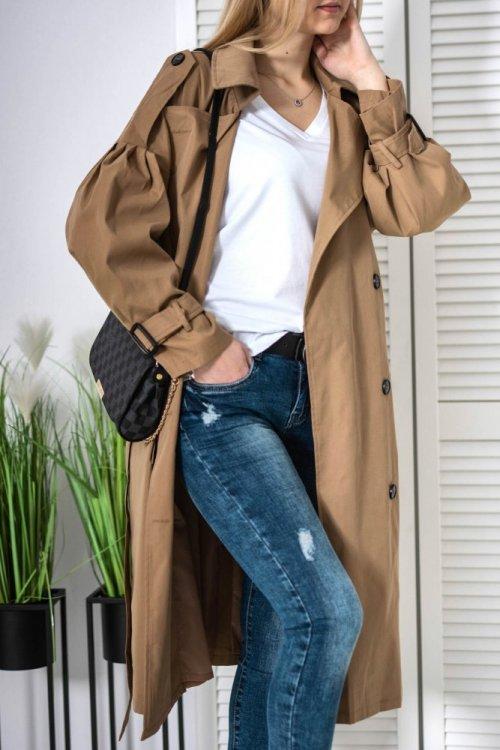 Płaszcz trencz camel Star