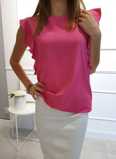 Bluzeczka różowa gładka Ida