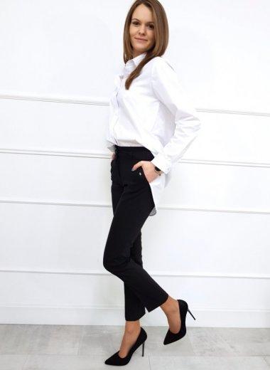 Spodnie eleganckie Infinity czarne
