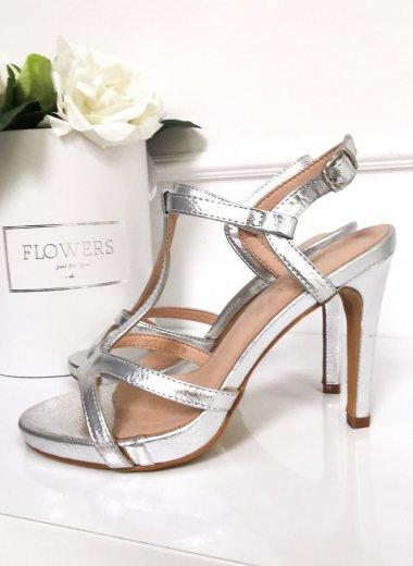 Sandały silver Stock
