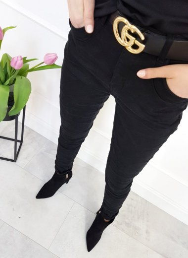 Spodnie czarne One