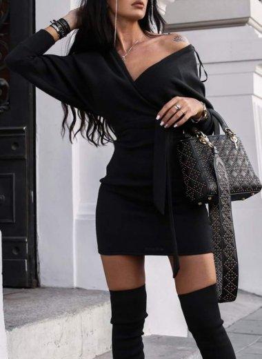 Sukienka Wait a Second czarna