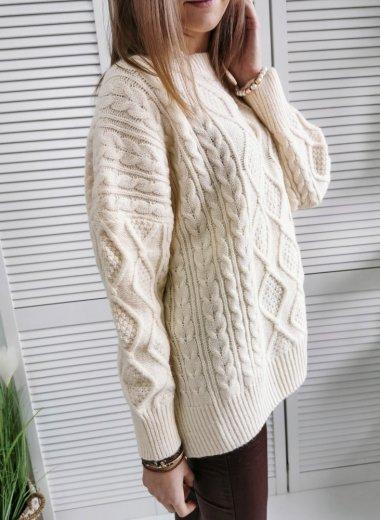 Sweter Nice Wear ecru
