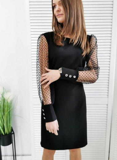 Sukienka w groszki z tiulem Caen