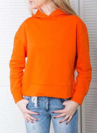 Bluza z kapturem pomarańczowa Alcala