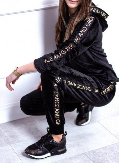 Komplet dresowy czarno-złoty Groove