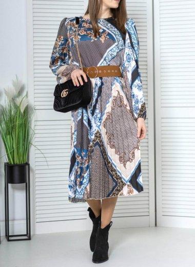 Sukienka z bufkami we wzory Oliana