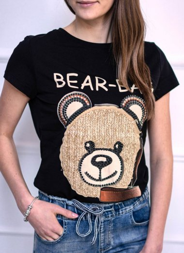 T-shirt Bear Bag czarny