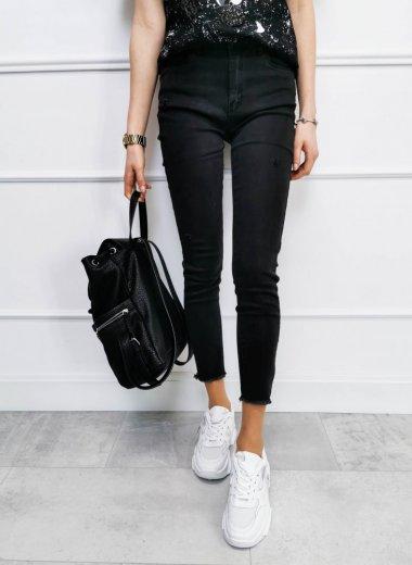 Spodnie Push Up, High Waist czarne