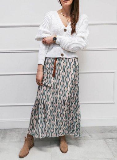 Spódnica Loara we wzory pastelowa