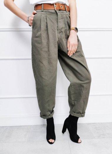 Spodnie materiałowe typu Slouchy khaki