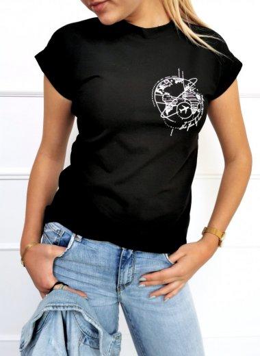 T-shirt Travel czarna