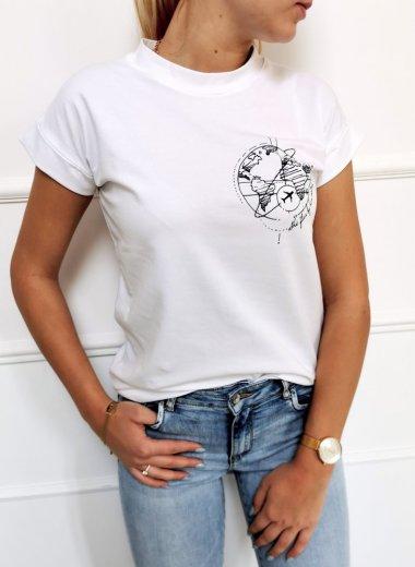 T-shirt Travel biała