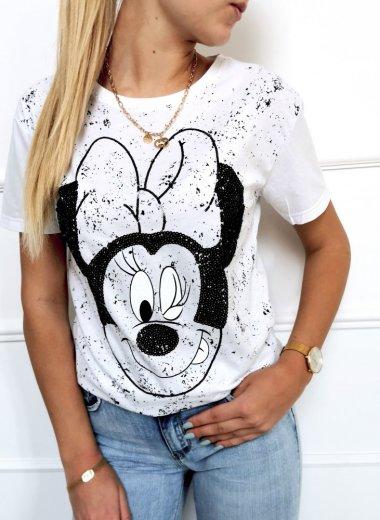 T-shirt bluzka Minnie biała