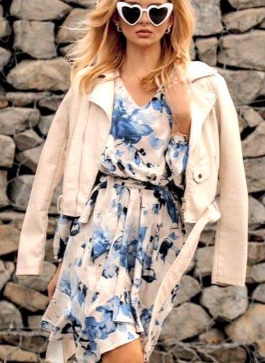 Sukienka Daisy w niebieskie kwiaty