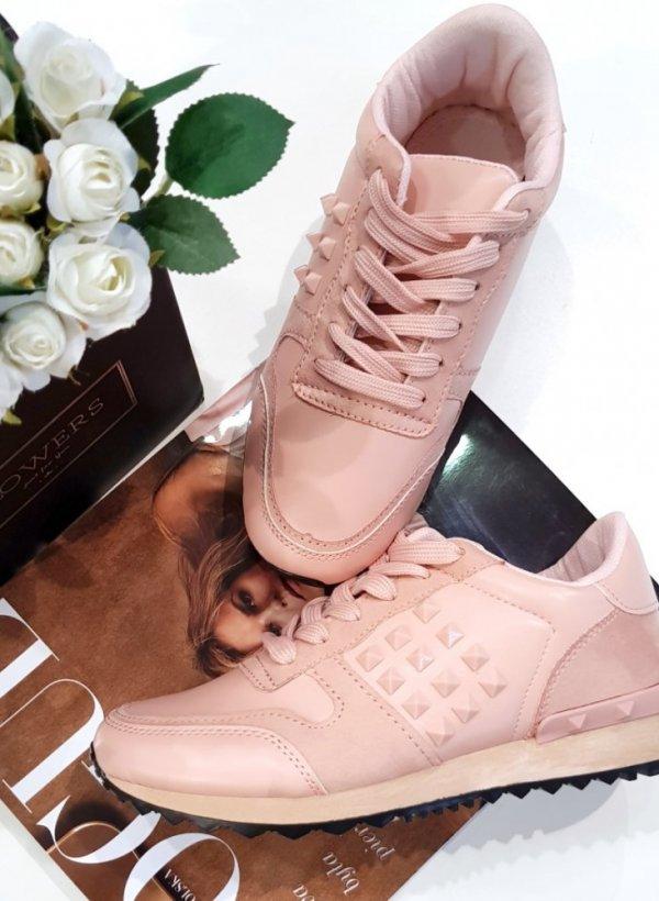 Różowe buty sportowe Cassy
