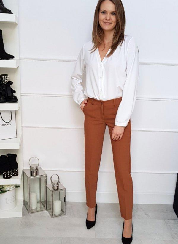 Eleganckie spodnie Ross Camel