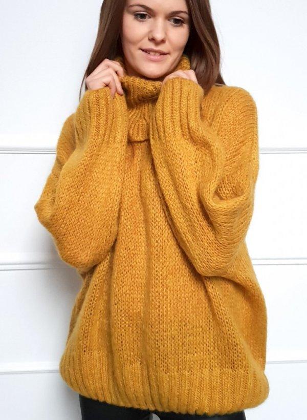 Sweter z golfem Yellow