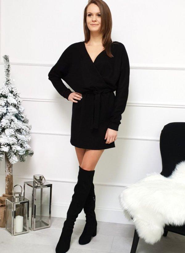 Sukienka z kopertową zakładka Brandi black