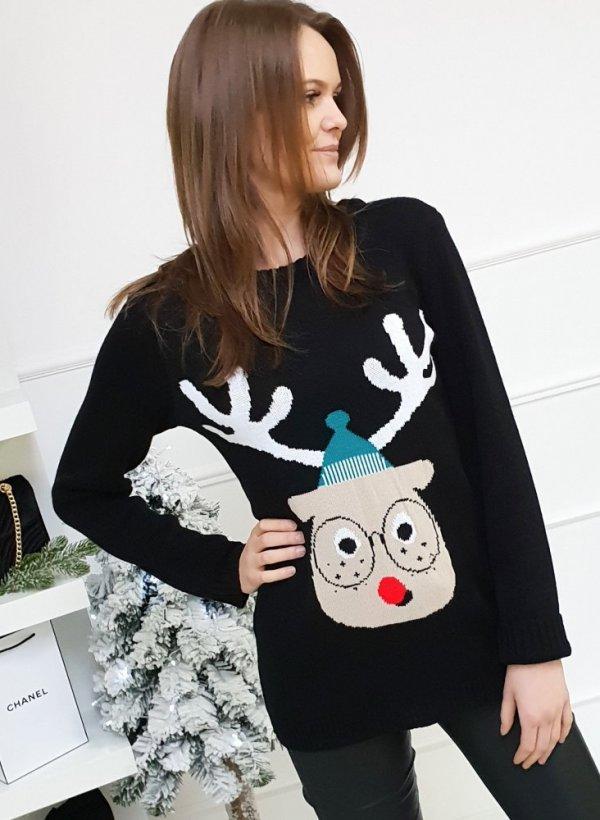 Sweter Świąteczny Renifer black