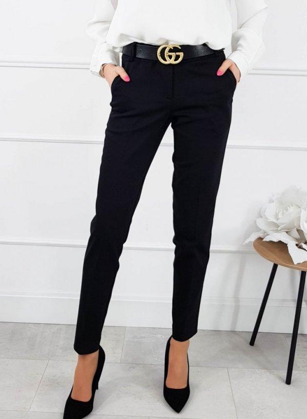 Spodnie eleganckie Adrien czarne