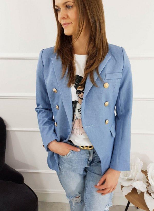 Żakiet bawełniany jeans Angello