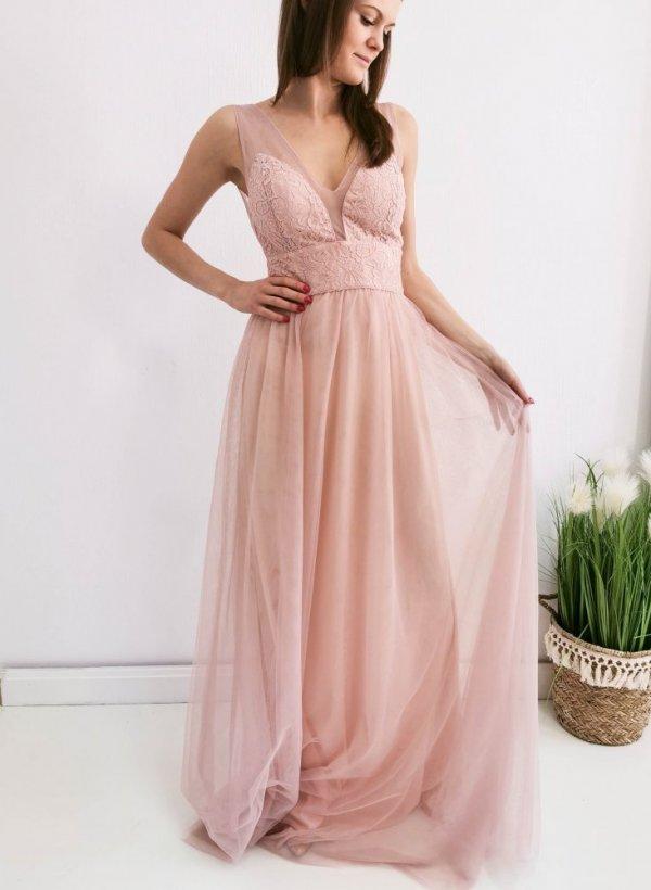 Sukienka Luxe Maxi beige