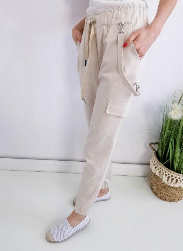 Spodnie Annie beżowe