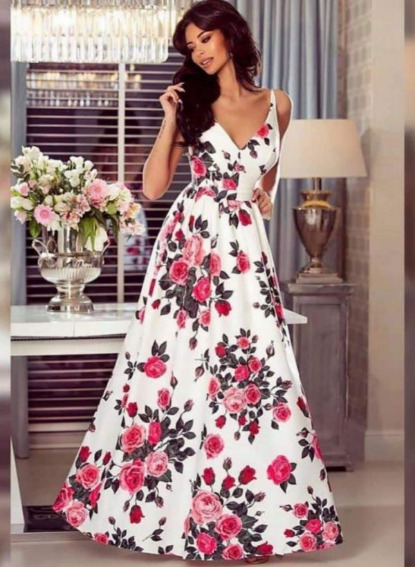 Sukienka Maxi red roses