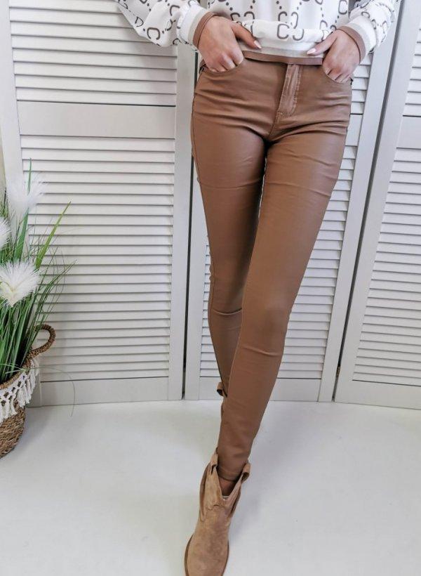 Woskowane Spodnie Angela toffi