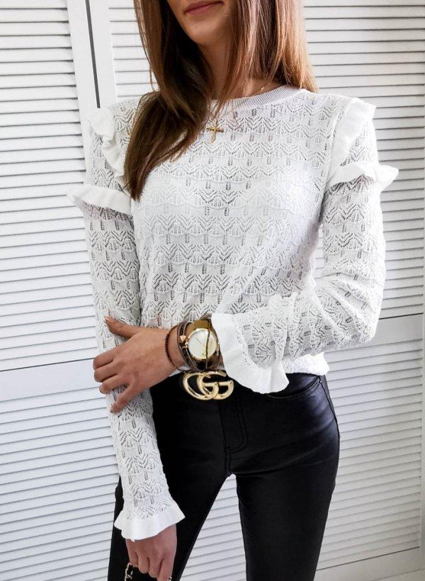 Bluzka ażurkowa Bijou cream
