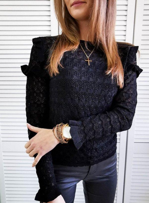 Bluzka ażurkowa Bijou black