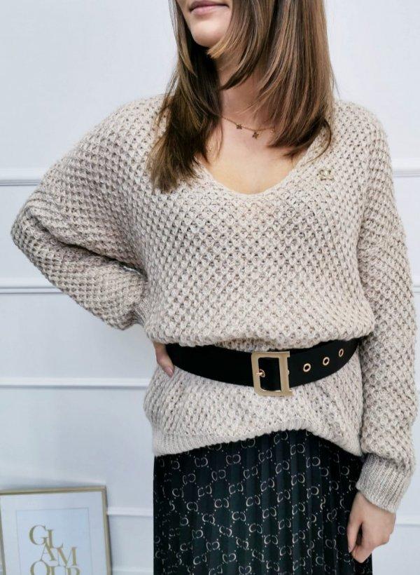 Sweter Livorno ze złotą nitką