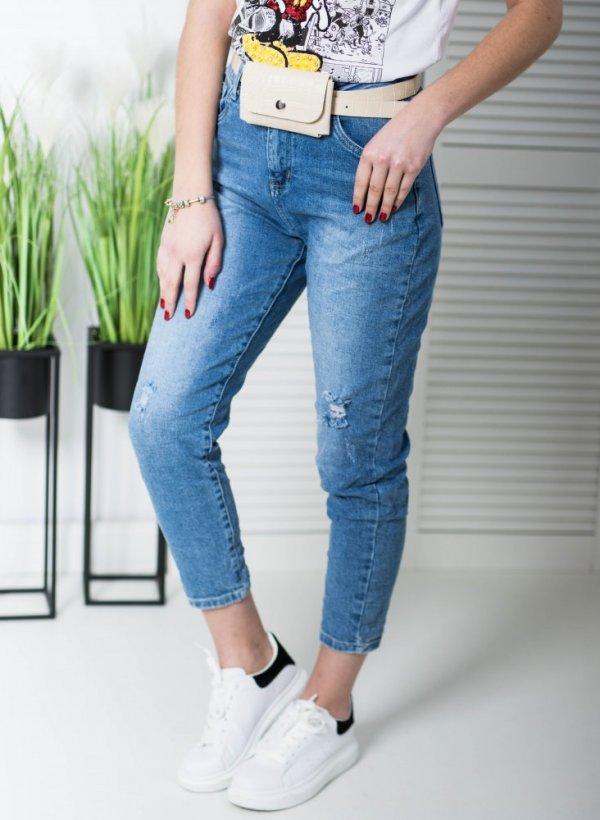 Spodnie jeansowe retro z nerką Barrel
