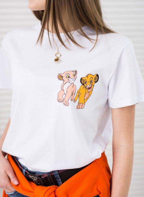 T-shirt Simba biały
