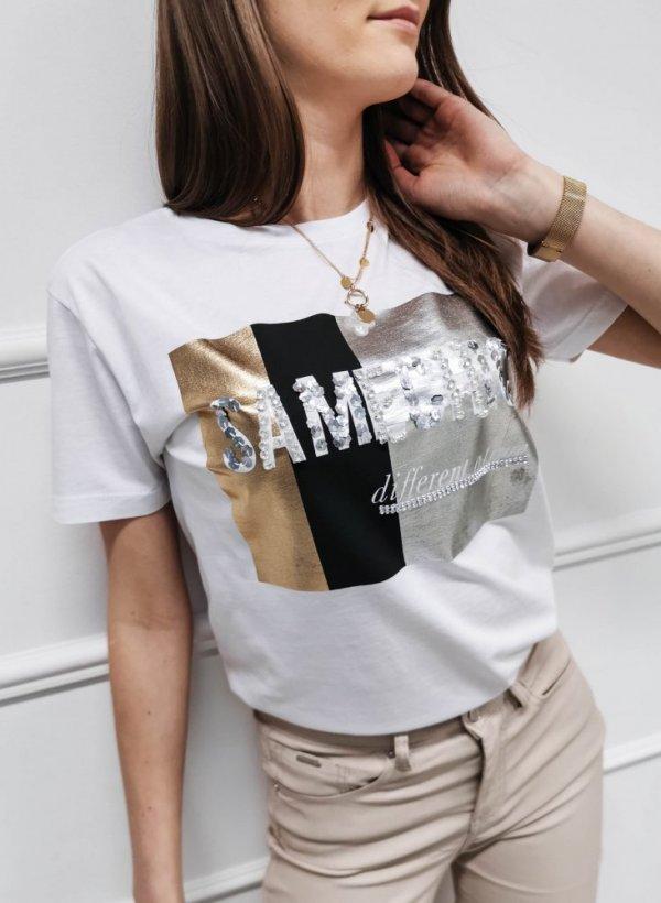 T-shirt bluzka SameChick biała