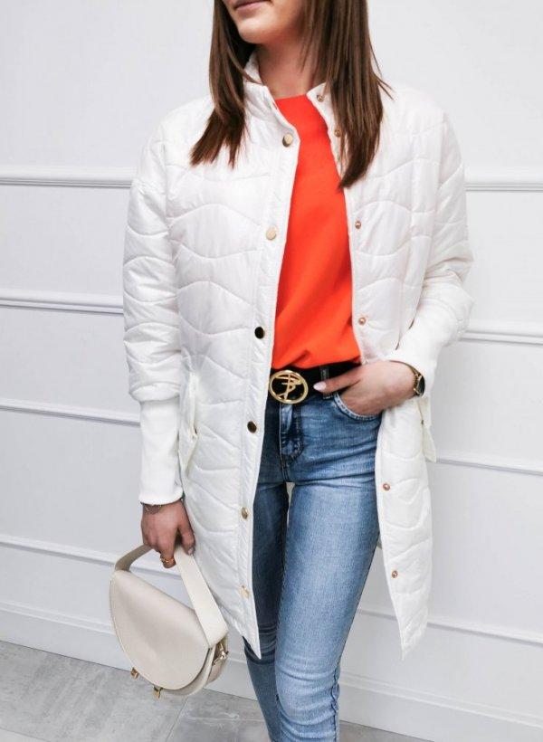Przedłużana kurtka Molly biała