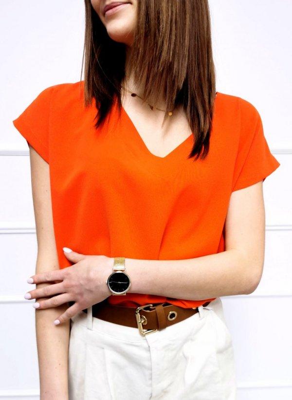 Bluzka w serek Bejar pomarańczowa