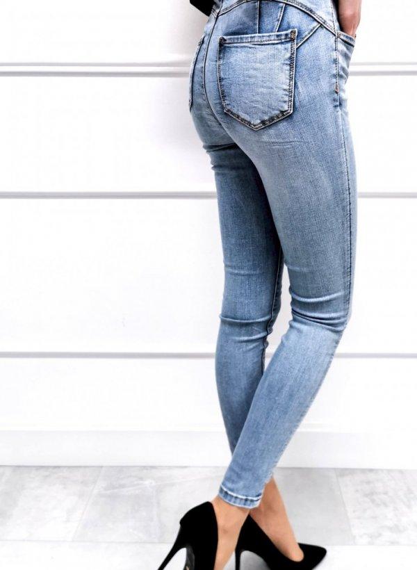 Spodnie jeansowe Light blue push up