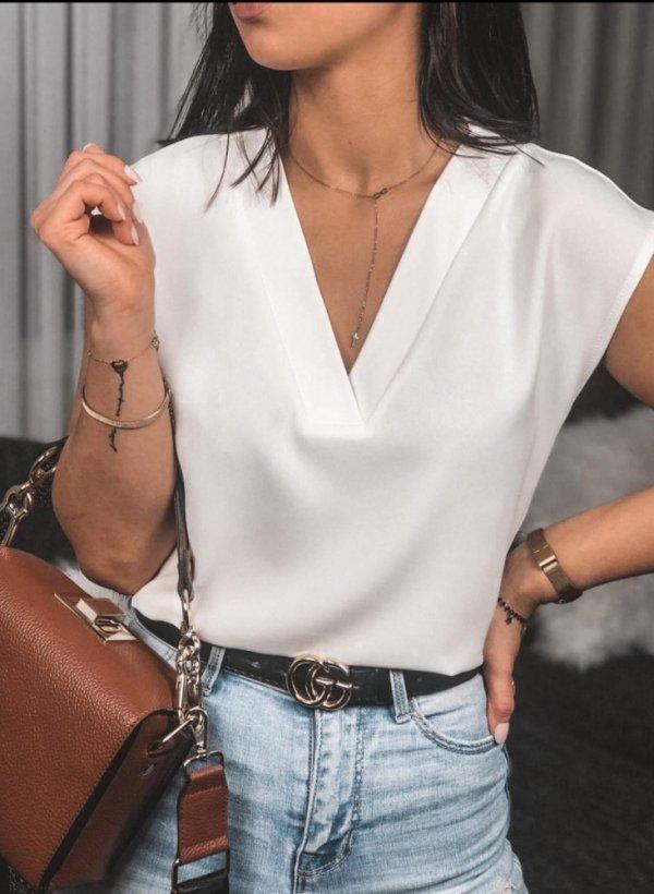 Bluzka w szpic kremowa Elegant