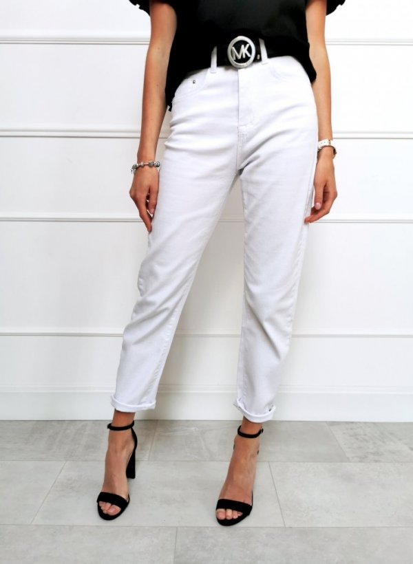 Spodnie jeansowe białe Tivoli