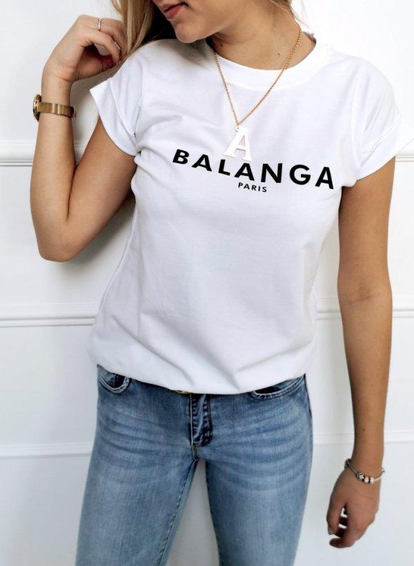 T-shirt Balanga biała