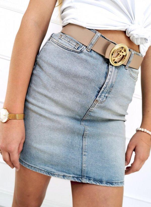 Spódnica jeansowa dekatyzowana light blue