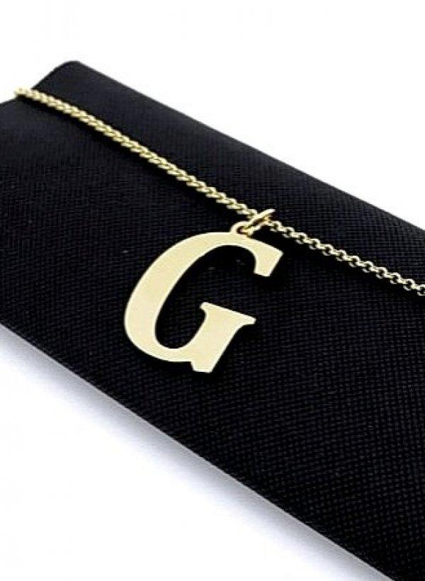 Naszyjnik Literka mała G