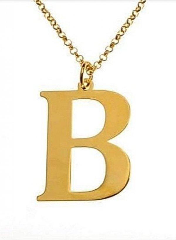 Naszyjnik Literka duża B