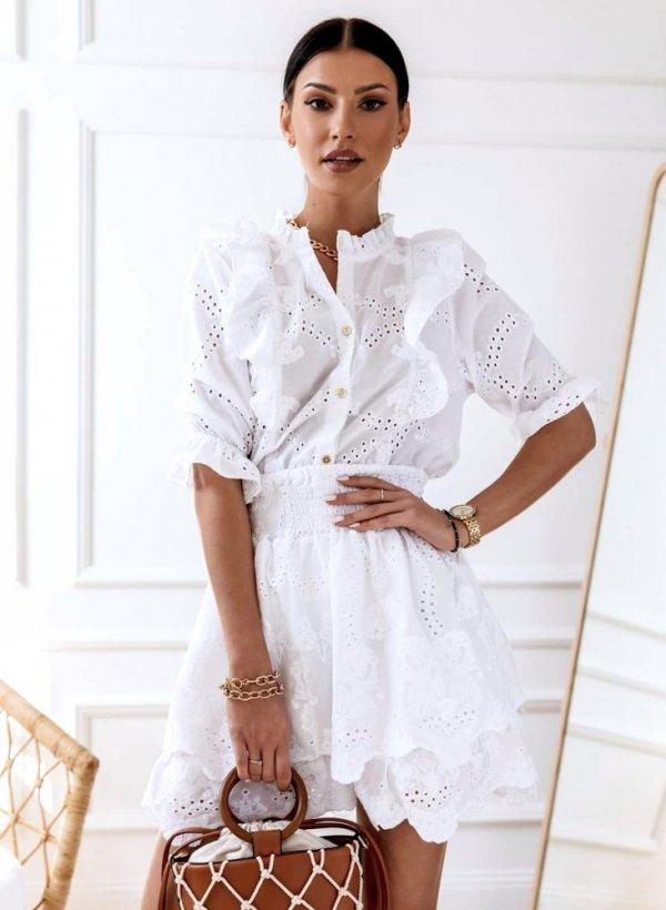 Spódnica haftowana Audrey biała