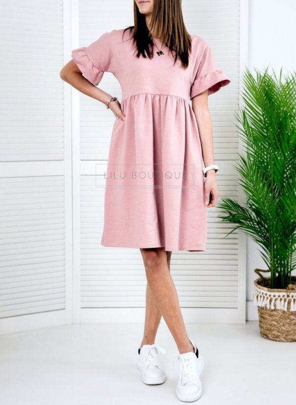 Sukienka bawełniana Lina róż
